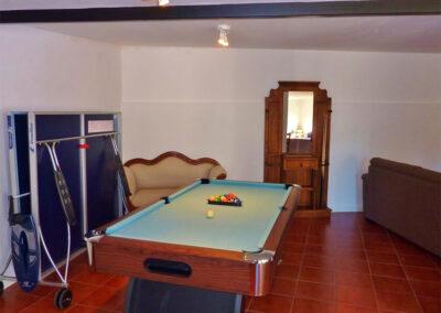 The games room at La Abadesa, Nueva Andalucía