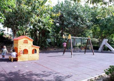 The children's play area at La Dama De Noche, Nueva Andalucía