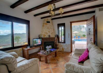 The living area at La Olgava, El Jaral