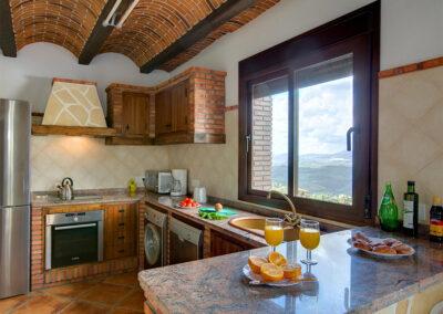 The kitchen at La Olgava, El Jaral