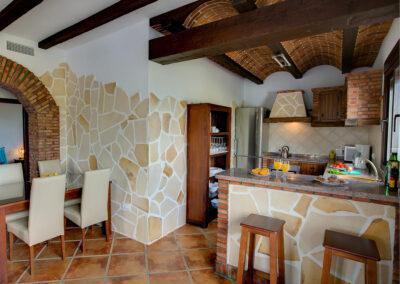 The kitchen & dining area at La Olgava, El Jaral