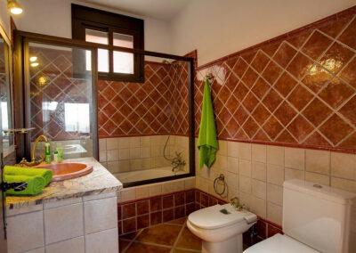 The bathroom at La Olgava, El Jaral
