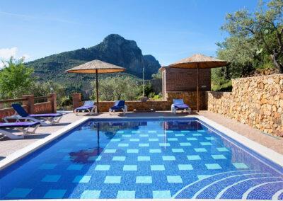The swimming pool at La Olgava, El Jaral
