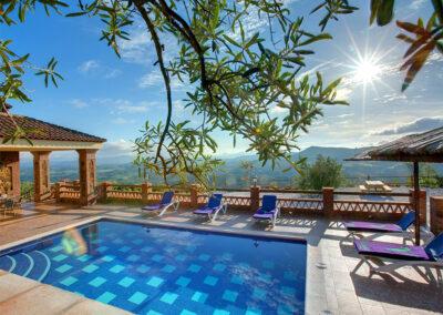 Fabulous panoramic views from the swimming pool at La Olgava, El Jaral