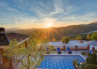 Enjoy incredible sunsets at La Olgava, El Jaral