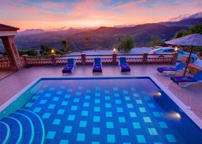 Enjoy spectacular sunsets at La Olgava, El Jaral