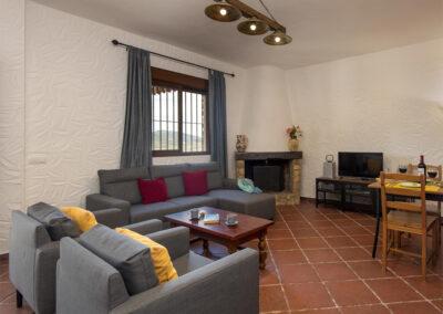 The living area at La Zarza, El Gastor