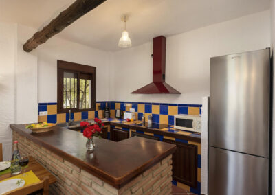 The kitchen at La Zarza, El Gastor