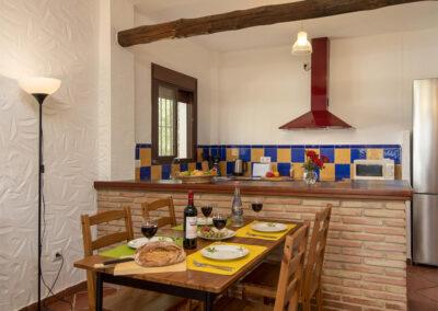 The dining area at La Zarza, El Gastor