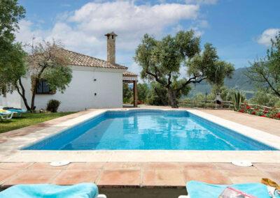 The swimming pool at La Zarza, El Gastor
