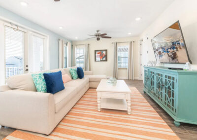 The living area at Margaritaville 121, Kissimmee