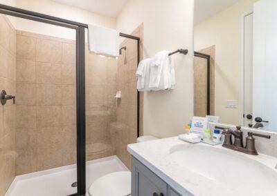Bedroom #1 adjacent bathroom at Margaritaville 121, Kissimmee