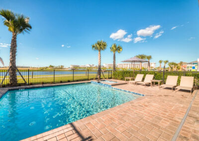 The swimming pool at Margaritaville 121, Kissimmee