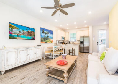 The living area at Margaritaville 3, Kissimmee, Orlando