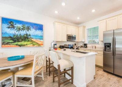 The kitchen & dining area at Margaritaville 3, Kissimmee, Orlando