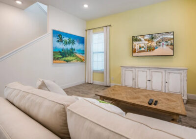 The living area at Margaritaville 49, Kissimmee, Orlando