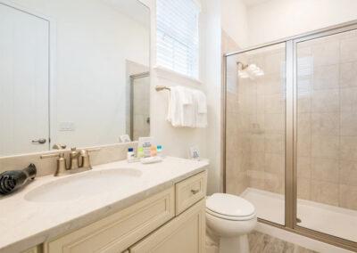 The bathroom adjacent to bedroom #1 at Margaritaville 49, Kissimmee, Orlando