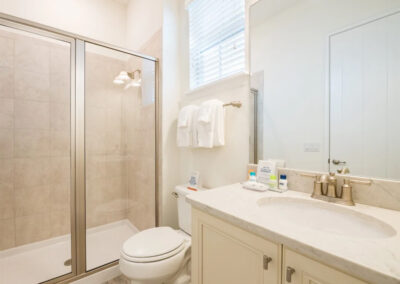 The bathroom adjacent to bedroom #3 at Margaritaville 49, Kissimmee, Orlando