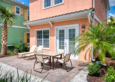 The private patio at Margaritaville 49, Kissimmee, Orlando