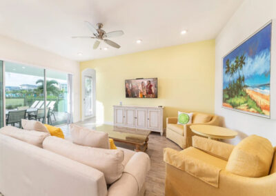 The living area at Margaritaville 99, Kissimmee, Florida