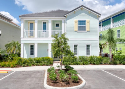 Margaritaville 99, Kissimmee is a six bedroom, six bathroom villa with private pool & lake views. Spacious living for 12 includes two comfy sitting / TV areas, wood tile floors & pastel decor. Just five miles from Disney, onsite water park, entertainment, dining & shuttle.