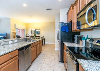 The kitchen at Paradise Palms Resort 10, Kissimmee