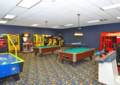 The arcade games room at Paradise Palms Resort, Kissimmee