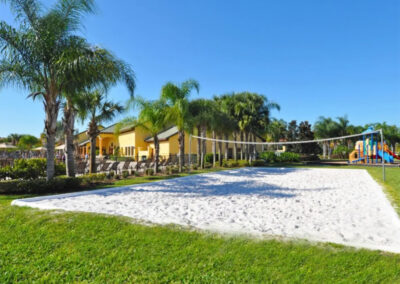 The beach volleyball court at Paradise Palms Resort, Kissimmee