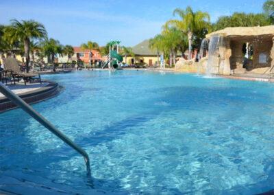The resort swimming pool at Paradise Palms Resort, Kissimmee