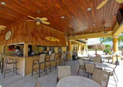 The poolside bar at Paradise Palms Resort, Kissimmee