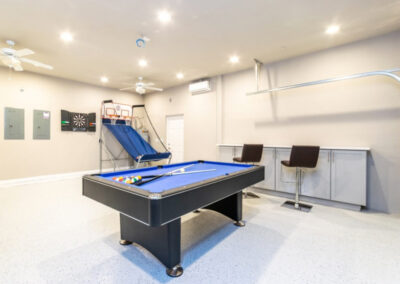 The games room at Providence Resort 20, Davenport