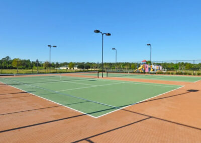 The tennis courts at Providence Resort, Davenport, Orlando