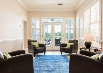 The living area at Reunion Resort 140, Reunion, Orlando, Florida