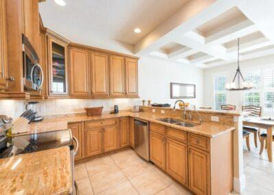 The kitchen at Reunion Resort 140, Reunion, Orlando, Florida