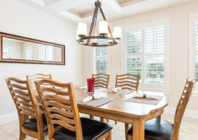 The dining area at Reunion Resort 140, Reunion, Orlando, Florida