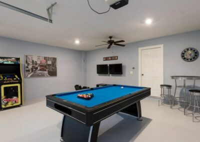 The well equipped games room at Reunion Resort 140, Reunion, Orlando, Florida
