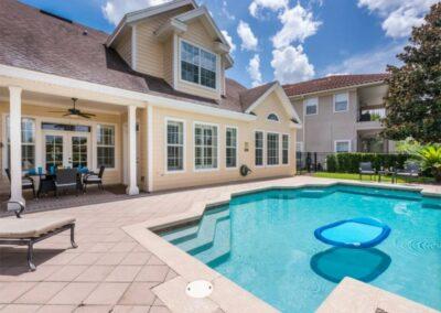 The patio & swimming pool at Reunion Resort 140, Reunion, Orlando, Florida