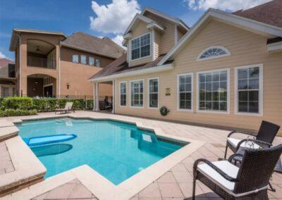 The swimming pool & patio at Reunion Resort 140, Reunion, Orlando, Florida