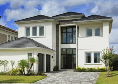 Reunion Resort 95 is a 5,000 sq. foot mansion with six bedrooms, five bathrooms, infinity pool & golf course views. The contemporary design includes a state-of-the-art kitchen, media room & games room with chrome-and-white pool table. Close to Disney, Old Town & golf.