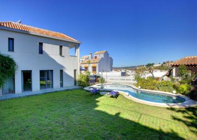The garden & swimming pool at San Nicasio, Ronda