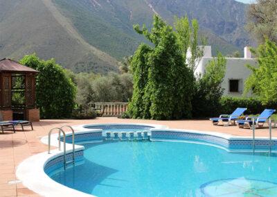 The swimming pool at Sierravista, Órgiva
