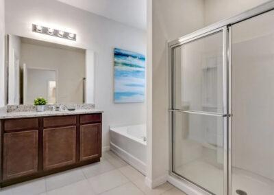 Bedroom #1 en-suite at Solterra Resort 353, Davenport