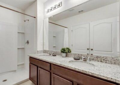 Bedroom #2 & #3 adjacent bathroom at Solterra Resort 353, Davenport