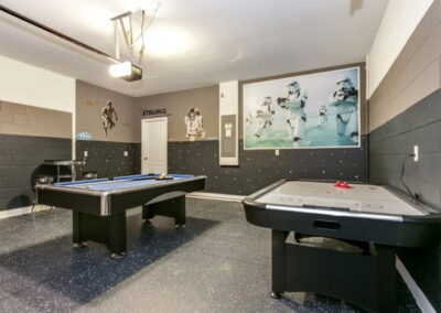 The games room at Solterra Resort 353, Davenport