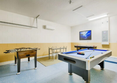 The games room at Solterra Resort 36, Davenport, Orlando
