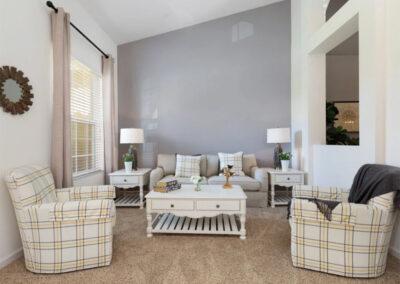 The formal living room at Solterra Resort 390, Davenport, Orlando