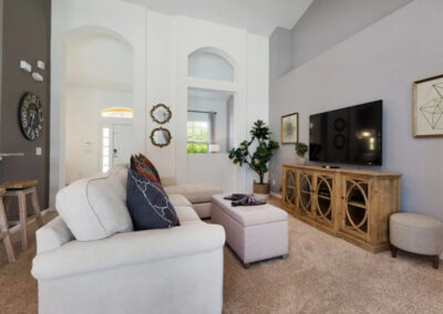 The living room at Solterra Resort 390, Davenport, Orlando