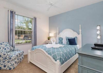 Bedroom #3 at Solterra Resort 390, Davenport, Orlando