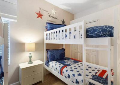 Bedroom #4 at Solterra Resort 390, Davenport, Orlando