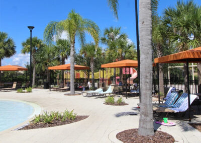 Relax in one of the poolside cabanas at Solterra Resort, Davenport, Orlando